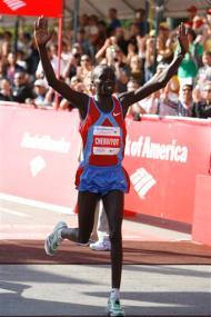 Evans Cheruiyot wins 2008 Chicago Marathon